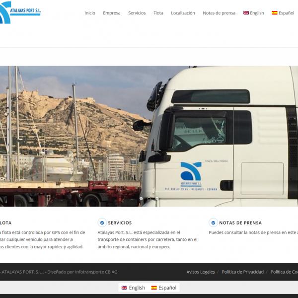 ATALAYAS PORT S.L. Transporte de containers por carretera.